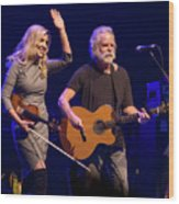 Allison Krauss And Bob Wier Wood Print