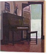 Allison's Piano Wood Print