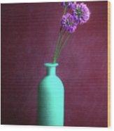 Allium Medusa Flower Wood Print