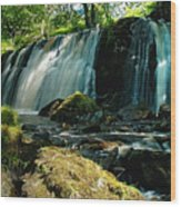 Allt Beochlich Waterfall Wood Print
