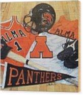 Alma High School Athletics Wood Print