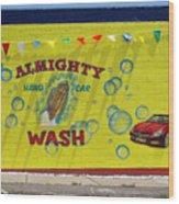 Almighty Car Wash Wood Print