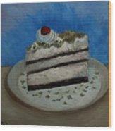 Almond Cake Wood Print