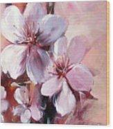 Almonds Blossom  12 Wood Print