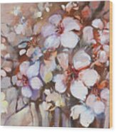 Almonds Blossom  2 Wood Print