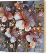 Almonds Blossom  3 Wood Print