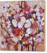 Almonds Blossom  5 Wood Print