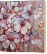 Almonds Blossom  6 Wood Print