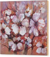 Almonds Blossom  8 Wood Print