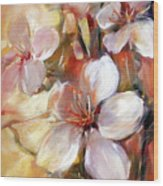 Almonds Blossom  9 Wood Print