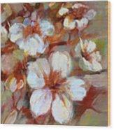 Almonds Blossom1 Wood Print
