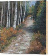 Almost Autumn Wood Print