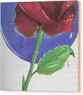 Almost Black Rose Wood Print
