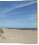 Almost Deserted Beach At Skegness Wood Print