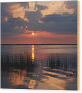 Almost Sunset In Florida Wood Print
