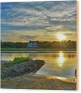 Almost Sunset In Pawleys Island Wood Print