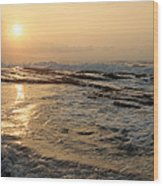 Aloha Oe Sunset Hookipa Beach Maui North Shore Hawaii Wood Print