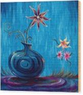 Aloha Rain Wood Print by Jennifer McDuffie