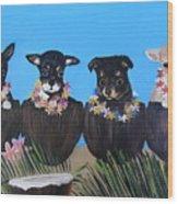 Aloha Teacup Chihuahuas Wood Print