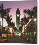 Aloha Tower Marketplace Wood Print