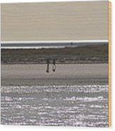 Alone On The Beach Wood Print