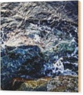 Alone With Sea Wood Print