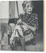 Balinese Old Woman Wood Print