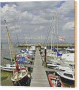 Along C Pontoon In Ryde Harbour Wood Print