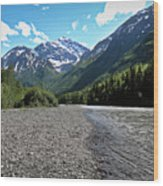 Along Eagle River- Eagle River, Alaska Wood Print