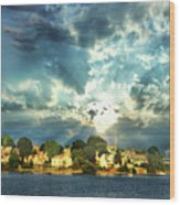 Along The North Shore - Ma Wood Print