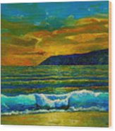 Along The African Coast Wood Print