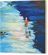 Along The Beach Wood Print