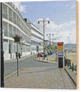 Along The Esplanade At Sandown Wood Print