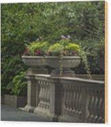 Along The Garden Path Wood Print