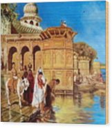 Along The Ghats, Mathura After Edwin Lord Weeks Wood Print