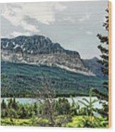 Along The Road To Many Glacier 4 Wood Print