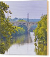 Along The Schuylkill River In Manayunk Wood Print by Bill Cannon