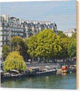 Along The Seine Wood Print