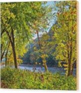 Along The Shenandoah River Wood Print