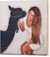 Alpaca Emily And Breanna Wood Print