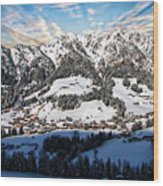 Alpbach Winter Landscape Wood Print
