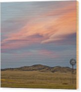 Alpenglow Over South Park, Colorado Wood Print