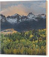 San Juan Mountains Fall Colors Sunrise Wood Print