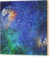 Alpha Centauri Abstract Moods Wood Print