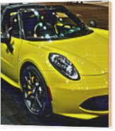 Alpha Romeo 4c Spider Wood Print