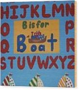 Alphabet Boat Wood Print