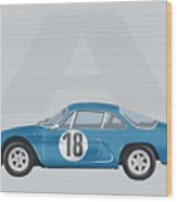 Alpine A110 Wood Print by TortureLord Art