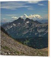 Alpine Country Wood Print