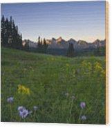 Alpine Dawn Wood Print