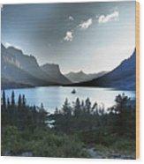 Alpine Dusk Wood Print